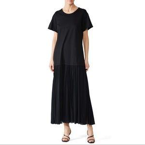 NWT JIL SANDER NAVY Drop Waist T-Shirt Dress